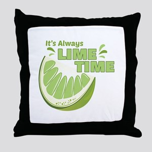 Lime Time Throw Pillow